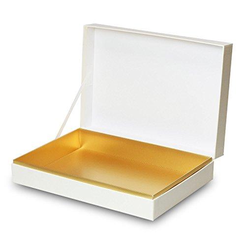 【メーカー直送品のため代引不可】高級ギフト箱 貼り箱ALLESシリーズ ヒンジケース1073【白】 30個セット (ギフトボックス お菓子 贈答用 箱 菓子箱 化粧箱)