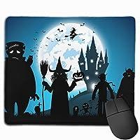 ハロウィン魔女 マウスパッド 25×30 大判 ノンスリップ 防水 ゲーミング おしゃれ マウスの精密度を上がる