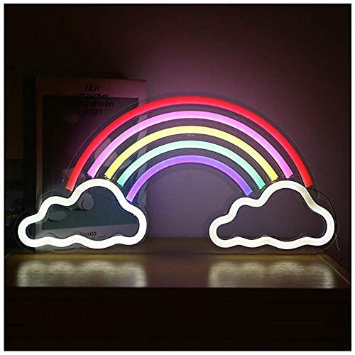 GAXQFEI Iris Led Letreros de Neón Arte Lámpara de Neón Colorida Usb Luces Nocturnas Decoración de Pared Interior para el Hogar Aniversario Regalos de San Valentín Decoración de Dormitorio