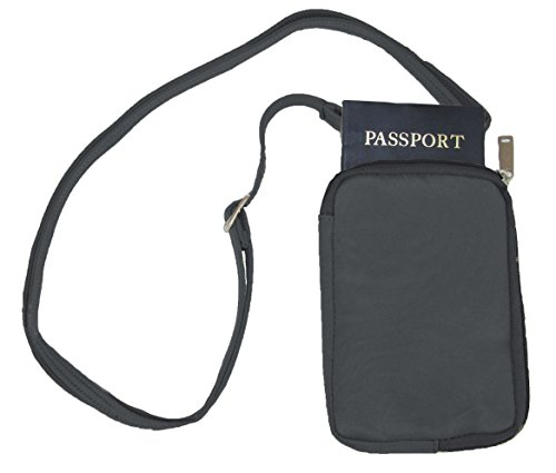 DayMakers Be Safe Bags Anti-Theft RFID Multi-Compartment Passport Zipper Wallet
