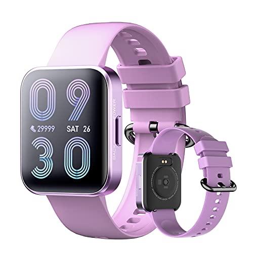Smartwatch 1,69' Reloj Inteligente Impermeable IP68 Para Mujer Hombre, Pulsera De Actividad Con Pulsómetro Monitor De Sueño Podómetro Calorías, Monitores Actividad Deportivo Para Android Ios,Púrpura