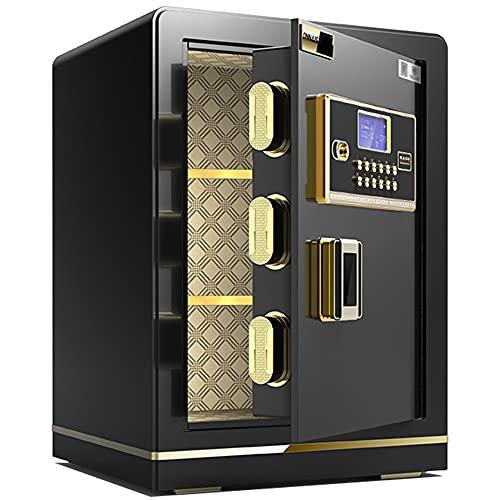 Caja fuerte con bloqueo de código electrónico, alarma triple, fundición de acero de aleación, anti-palanca y anti-perforación, gran capacidad/A / 38cm×32cm×45cm