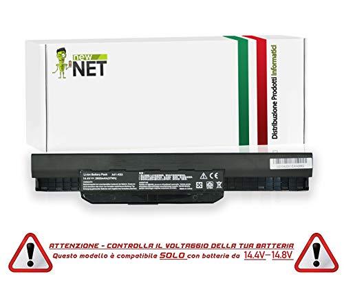 New Net - Batería de 2600 mAh Compatible con Notebook ASUS K53JT K53S K53SC K53SD K53SE K53SJ K53SN K53SV K53TA K53U K53Z K54 K54C K54H K54HO K54HR K54HY K54L K54LY P43 P43E P43F P43J P43JC P43S