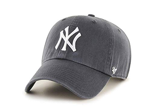 \'47 New York Yankees Adjustable Cap Clean Up MLB Charcoal/White - One-Size