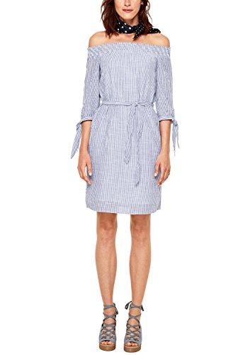 s.Oliver Damen 05.806.82.6514 Kleid, Blau (Underwater Blue Stripes 56g2), 38