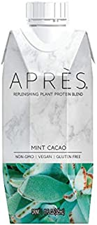 Après Plant-Based Vegan Protein Shake, Mint Cacao (11 FL OZ, 12 Count) Non-GMO, Dairy-Free, Gluten-Free, Soy-Free, Kosher (Mint Cacao, 12 Bottles)