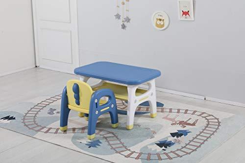 Avior Kids Kindersitzgruppe Sitzgruppe Kinder Kindermöbel Kinderstuhl & Tisch Kindertisch mit 1 Kinderstühlen Gelb