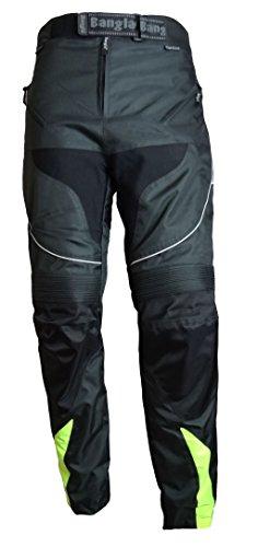 Ledershop-online Bangla 2152 Motorrad Hose Tourenhose Herren Textil Cordura 600 schwarz neongelb L