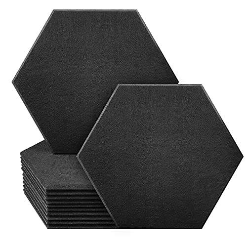 JBER Professional Hexagon Acoustic Foam Panels, Sound Proof Padding Soundproofing Absorption Panel,...
