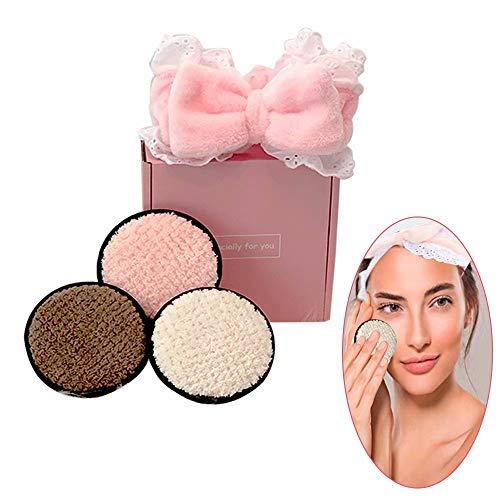 Makeup Remover Pads, 3PCS wiederverwendbare Reinigungstücher für das Gesicht, perfekt für Mascara, Lidschatten, Lippenstift, Foundation, Multi Colors -S0806