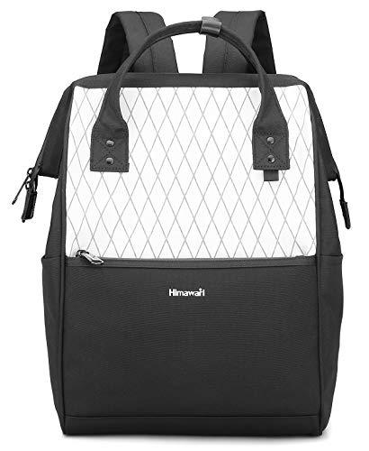 Himawari Laptop Backpack Travel Backpack With USB Charging Port Large Diaper Bag Doctor Bag School Backpack for Women&Men (0711-White)
