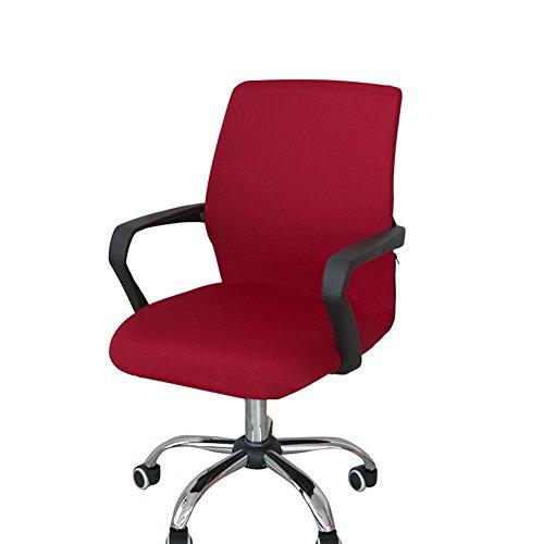 Funda para silla de escritorio de Zyurong, extraíble, lavable, protección para tu silla de oficina, giratoria y de escritorio, tamaño S (solo incluye la funda), rojo vino, Small