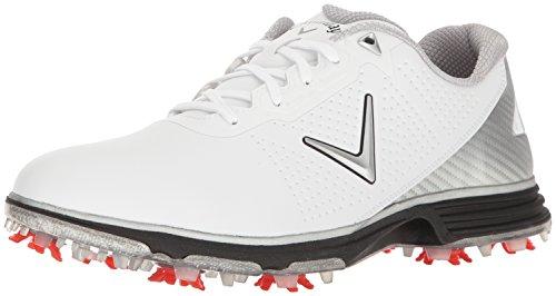 Callaway Men's Coronado Golf Shoe, White/Black, 8 W US