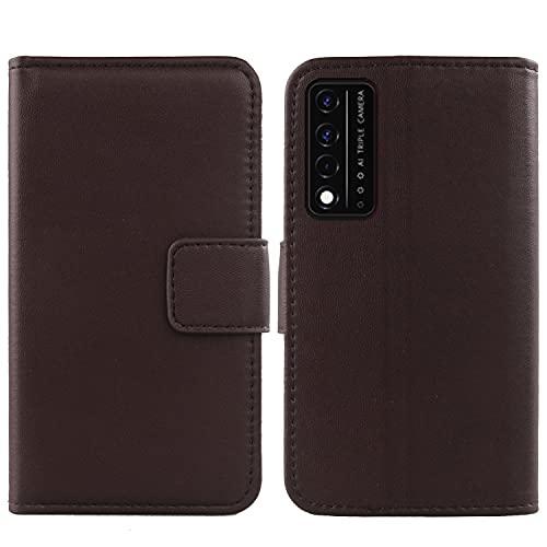 Lankashi Flip Echt Leder Tasche Für TCL T-Mobile REVVL V+ 5G 6.82