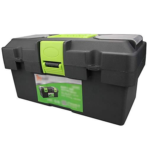 YIN YIN - Caja de almacenamiento de herramientas Material PP Caja de herramientas mejorada Maleta portátil Coche Caja de almacenamiento de herramientas en casa Bandeja incorporada - No contiene herram
