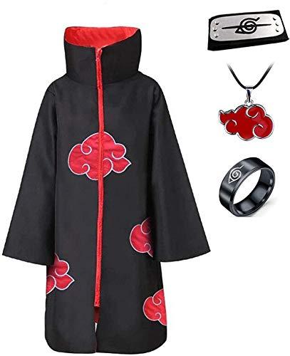 Angelaicoskxgj Unisex-Erwachsener Unisex Halloween Cosplay Uniform Umhang mit Stirnband groß Mantel mit Stehkragen