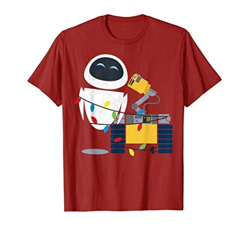Disney Pixar Wall-E Eve Christmas Light Wrap Graphic T-Shirt