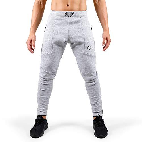 MOROTAI Neotech Fitness Sweatpants Sporthose Lang- Jogginghose Freizeithose Laufhose Mit Gummizug - Baumwolle - Hellgrau - M