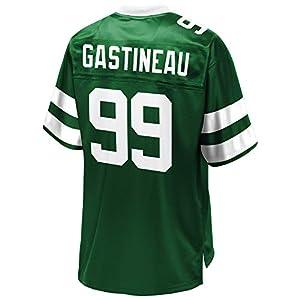 Men's Mark #99 Gastineau Pro Line Green Retired Player Jersey L