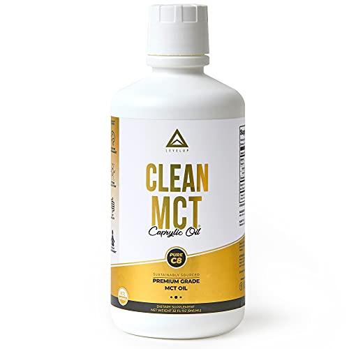 Clean MCT Oil: 100% Pure C8 Caprylic Acid Triglycerides | Best...