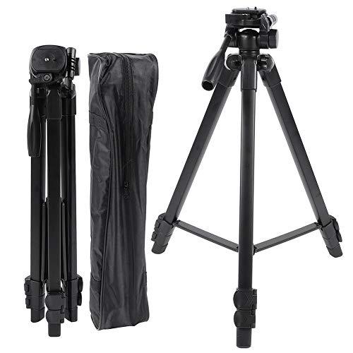 Tripod Three-dimensional Ballhead Outdoor Shooting Video with Handle and Bottom Hook Air Level, Aluminium Alloy, Black