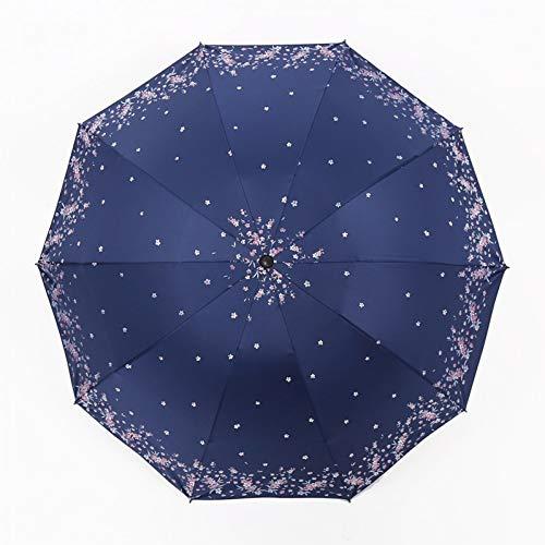XKA Regenschirm Hochwertige 10 Knochen Faltschirm Charms Regen Frauen Duett Regenschirm Für Frauen Pflaumenblüte Blumen Regenschirme
