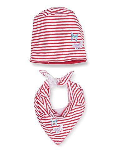 Salt & Pepper Mädchen 03128278 Mütze, Schal & Handschuh-Set, Rosa (Strawberry Ice 830), 51 (Herstellergröße: 51cm)