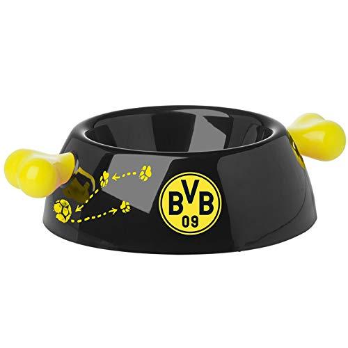 BVB 09 Borussia Dortmund Design Futternapf Hund schwarz | gelb Griff Knochenform 500 ml Füllmenge Napf