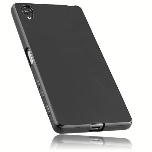 mumbi Hülle kompatibel mit Sony Xperia X Handy Hülle Handyhülle, schwarz