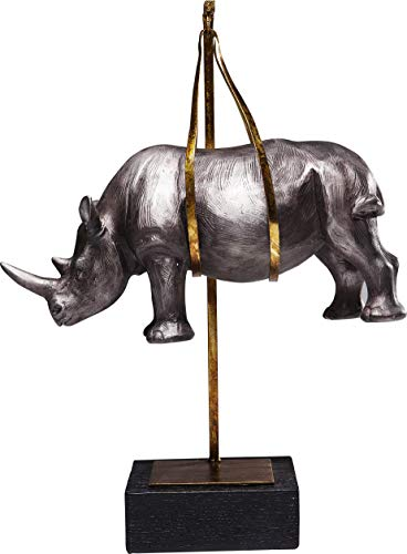 Kare Design - 61626 Statuetta Decorativa Hanging Rhino, Multicolore, One Size