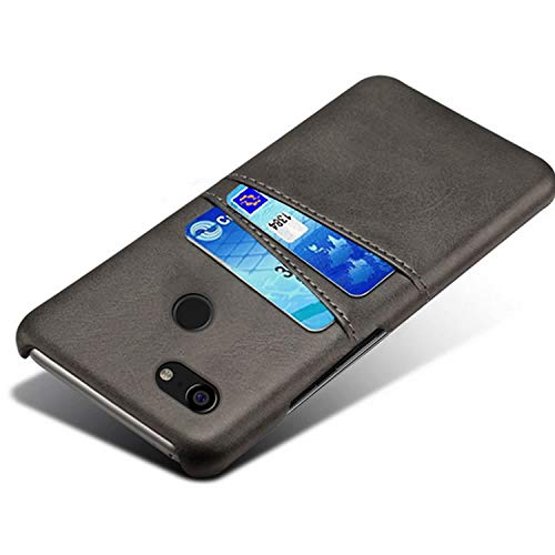 HualuBro Handyhülle für Google Pixel 3XL Hülle, Premium PU Leder Hardcase [Ultra Dünn] Lederhülle Tasche Schutzhülle Hülle Cover für Google Pixel 3 XL 2018 (Schwarz)