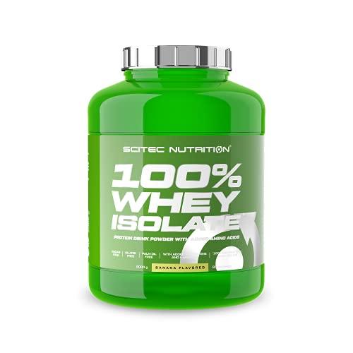 Scitec Nutrition 100% Whey Isolate mit zugefügten extra L-Glutamin, 2 kg, Banane