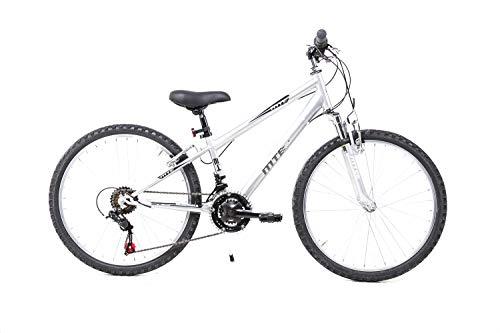 Sprick 24 Zoll Kinder Jugend Fahrrad MTB Shimano 18 Gang Mountainbike Federgabel Silber