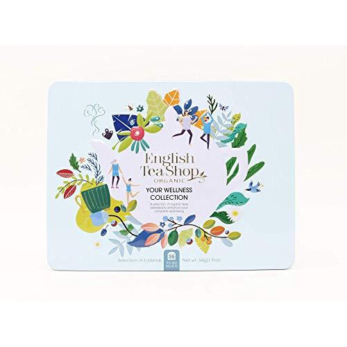 English Tea Shop Collezione Benessere Selezione di Tè e Tisane Biologiche Made in Sri Lanka - 1 x 36 Bustine di Tè (54 Grammi)