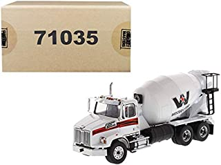 New Western Star 4700 SB Concrete Mixer Truck White 1/50 Diecast Model by Diecast Masters