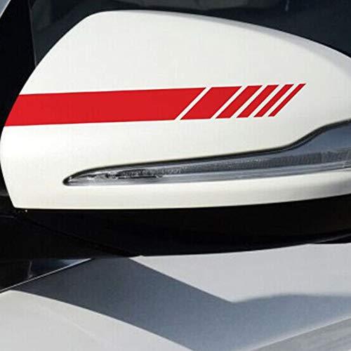 OPSLEA Un Paio di Adesivi per Auto specchietto retrovisore Adesivi per Auto con Striature a Forma di Fiore Adesivi per specchietto retrovisore Mercedes