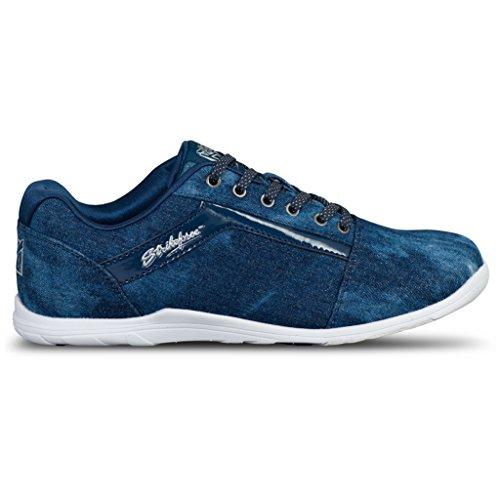KR Strikeforce Women's Nova Lite Bowling Shoes, Denim Sparkle, Size 6.5
