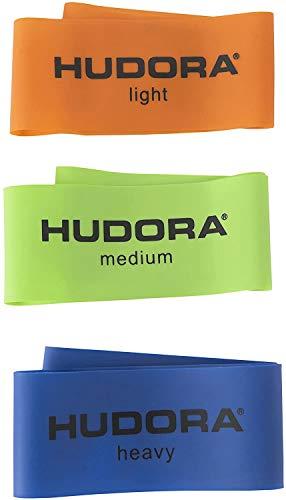 HUDORA Fitness-Band Mini, 3 Stück - Gymnastik-Band, Widerstandsband, 64146