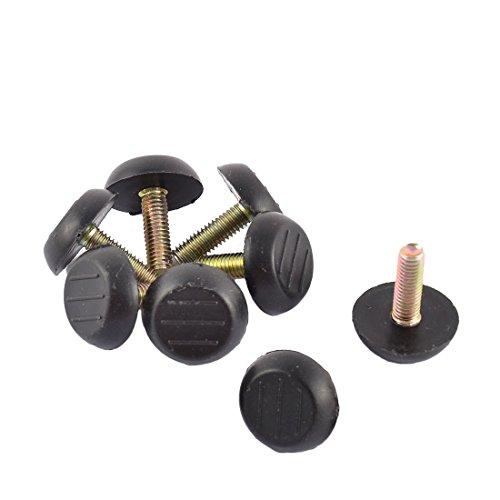 16-Pack Antrader Home Metal Adjustable M6 x 18mm Threaded Stem Furniture Table Desk Glide Leg Leveler Leveling Foot Adjuster Pad 23mm Base Diameter