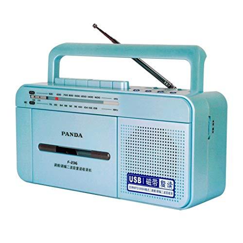 ZXy Reproductor y Grabador de casetes Retro, Unidades/grabadoras/Radio a Las Que se Puede Acceder Mediante U Disk USB, micrófono Incorporado