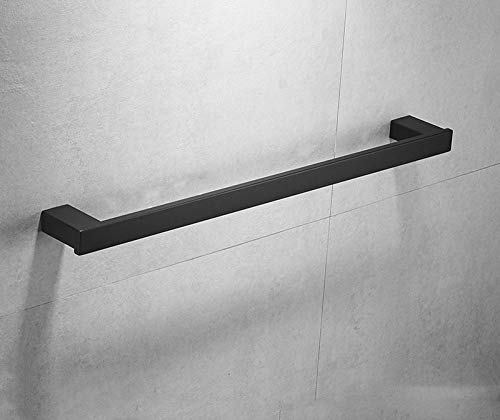 Moderner Bad Handtuchhalter Wandmontage Bad Wand Handtuchhalter Slider 304 Edelstahl Quadrat Spiegel Handtuchhalter Einzelstange Lange Handtuchhalter-80cm schwarz
