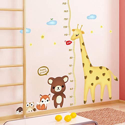 Abnehmbare Cartoon Kleine Tier Giraffe Höhe Aufkleber Kinderzimmer Kindergarten Test Wandaufkleber Niedlich
