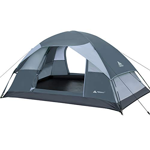 Forceatt Camping Tent for 2 People with Double Doors, Waterproof and Windproof, Easy to Install, Backpacking, Ventilated and Suitable for Outdoor and Hiking Trips