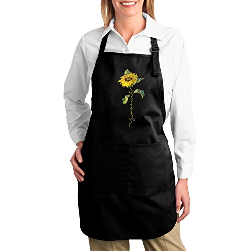 Preferred Store Sunflower Twenty One Pilots Adjustable Kitchen Chef Apron with Pockets for Home Black