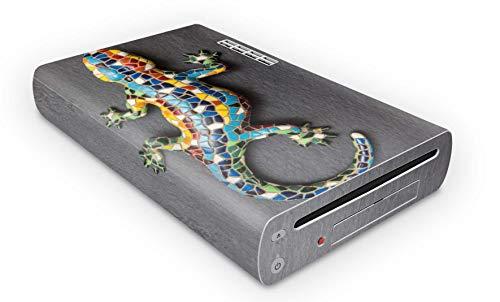Skins4u Konsolen Skin Aufkleber für Nintendo Wii U ( WiiU) Design Modding Schutz Folie Decal Vinyl Sticker Mosaik Gecko