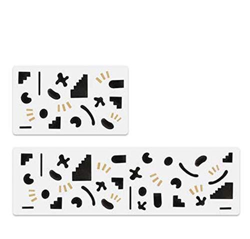 Küche Teppich Oilproof und wasserdicht Anti-Rutsch-Matte Mat Heim Teppich löschbare für Wohnzimmer Schlafzimmer,75×45+150×45cm