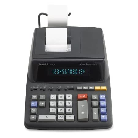 Sharp EL2196BL Standard Function Calculator,White