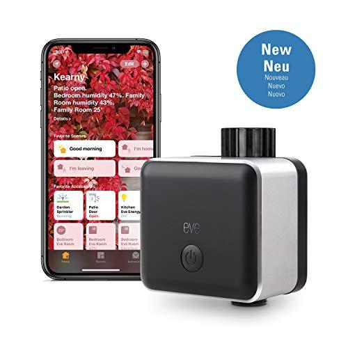 Eve Aqua - Smarte Bewässerungssteuerung per Apple Home App oder Siri, automatisch bewässern mit Zeitplänen, einfache Bedienung, Fernzugriff, keine Bridge, Bluetooth, HomeKit