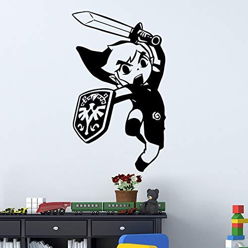 guijiumai Cartoon Kämpfer Aufkleber Wandbild Tür Aufkleber Kinder Baby Zimmer Home Dekoration Karte Wandbild 30x51cm