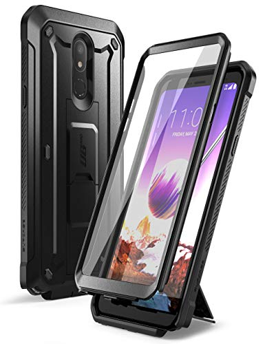 SUPCASE Unicorn Beetle Pro Series Case Designed for LG Stylo 5 (2019 Release), Full-Body Rugged Holster & Kickstand Case with Built-in Screen Protector(Black)